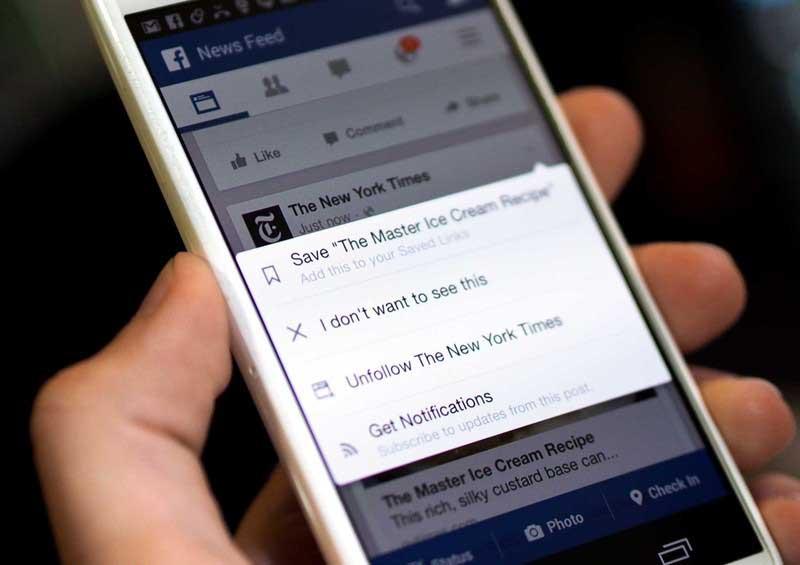 facebook save feature