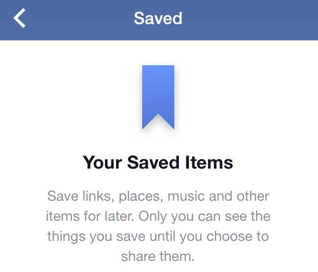 facebook save option