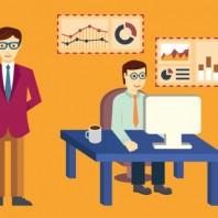 Analytics information and data handling. Flatstyle design