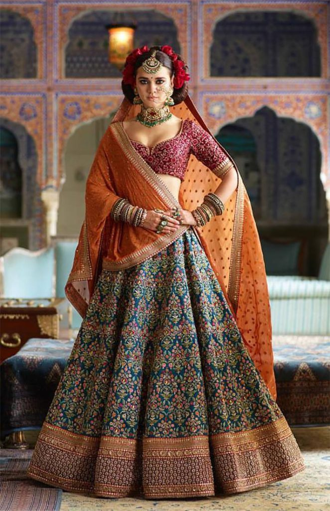Choosing The Perfect Bridal Lehenga According To Your Body Shape
