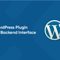 wordpress plugin backend interface