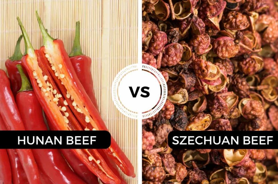 The Distinction between Hunan Beef and Szechuan Beef Flavors