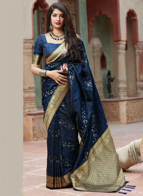Blue Wedding Saree