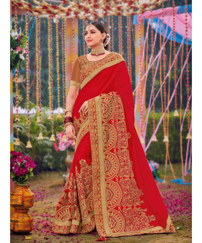 Red Sarees Online
